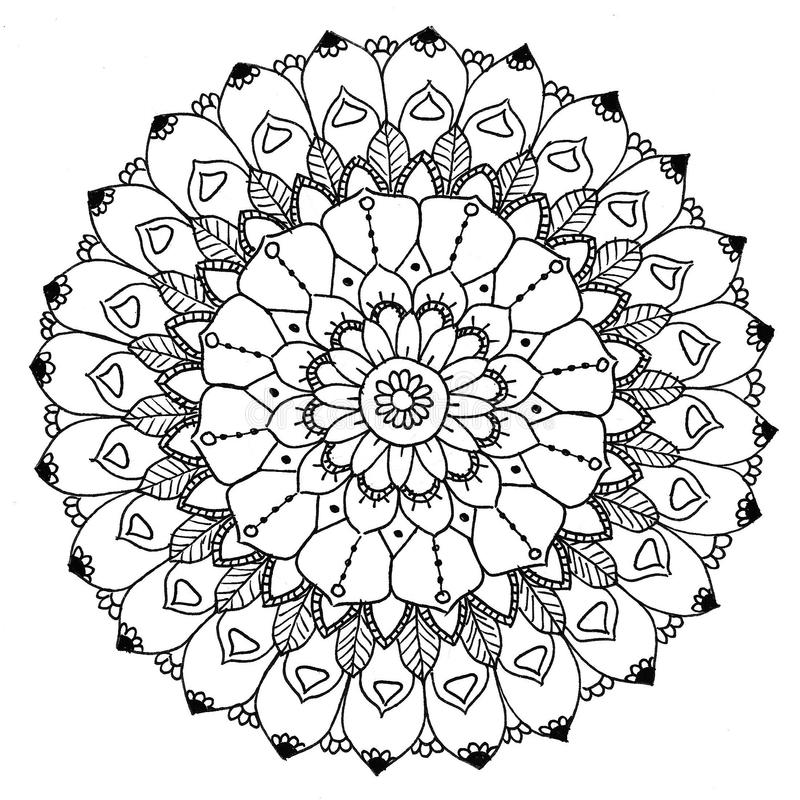 Zu färben Mandala vektor abbildung