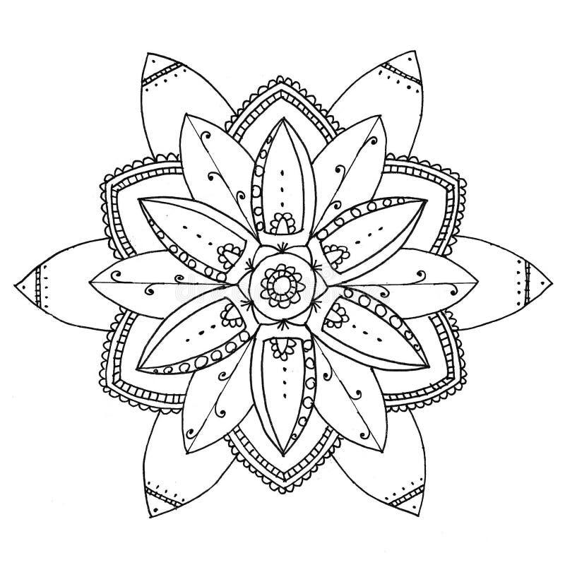 Zu färben Mandala lizenzfreie abbildung
