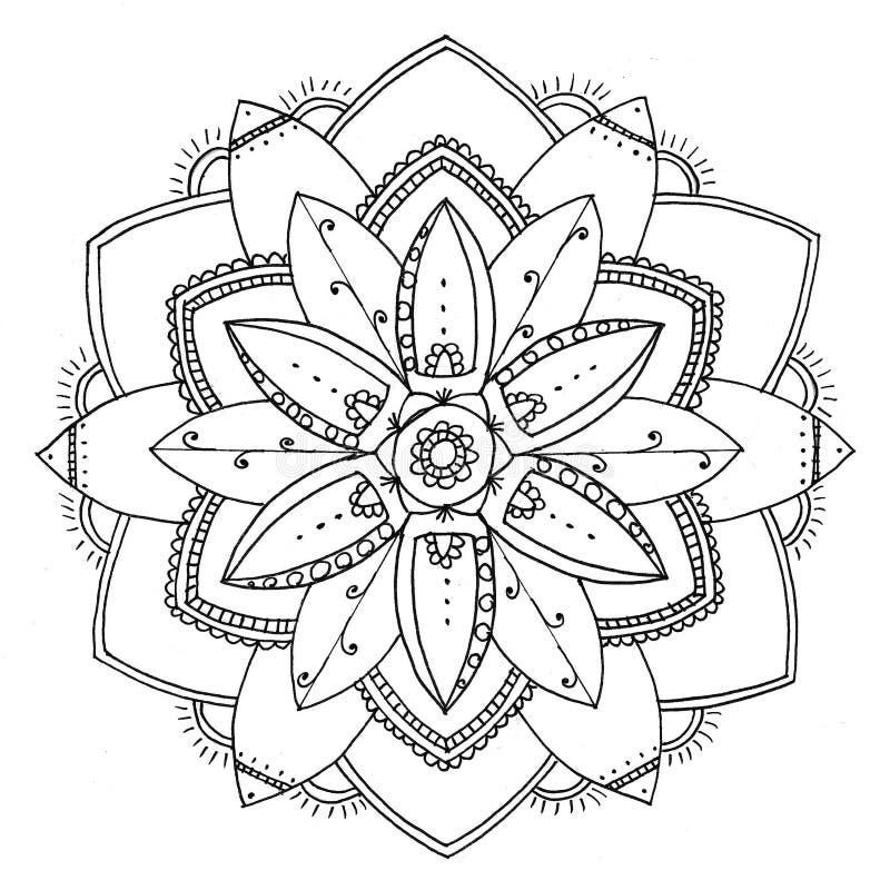 Zu färben Mandala stock abbildung