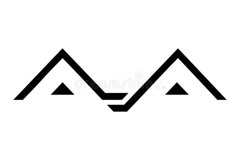 Zu Hause Logodesign lokalisiert auf weißem Hintergrund, Vektorillustration lizenzfreie abbildung