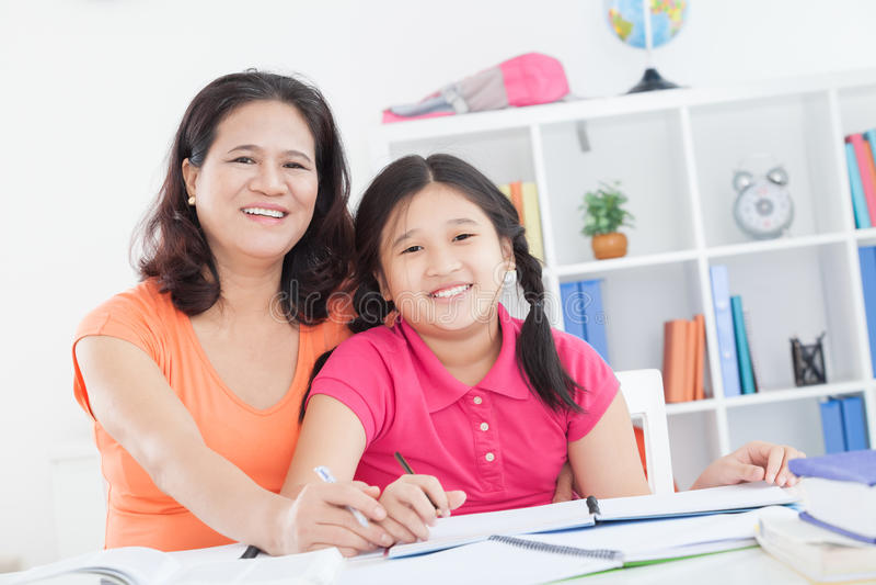 Zu Hause studieren lizenzfreies stockbild