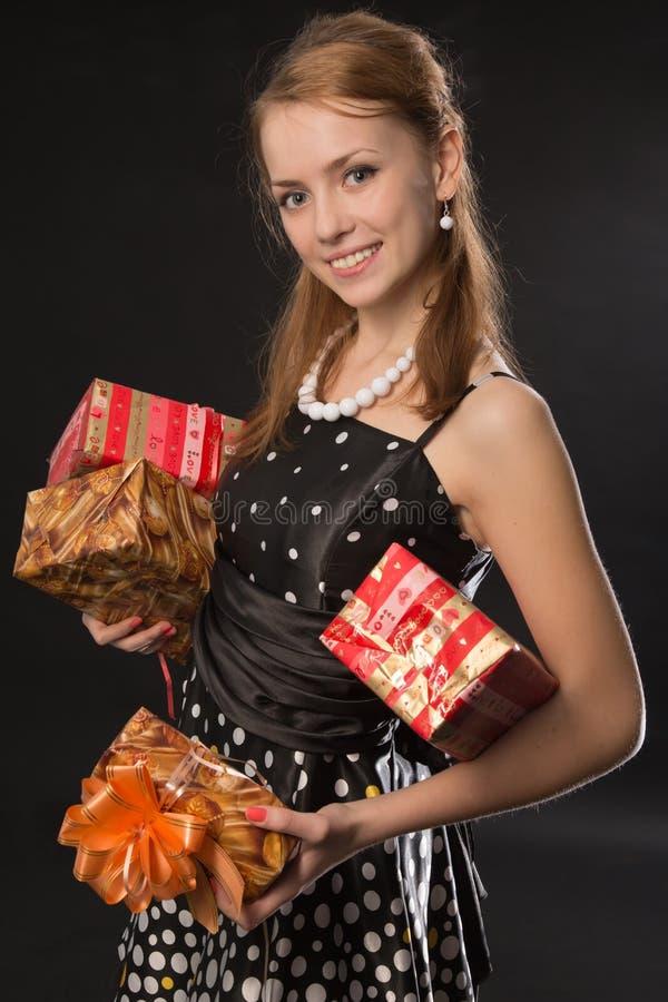 Zu Ihnen Geschenke lizenzfreie stockfotografie