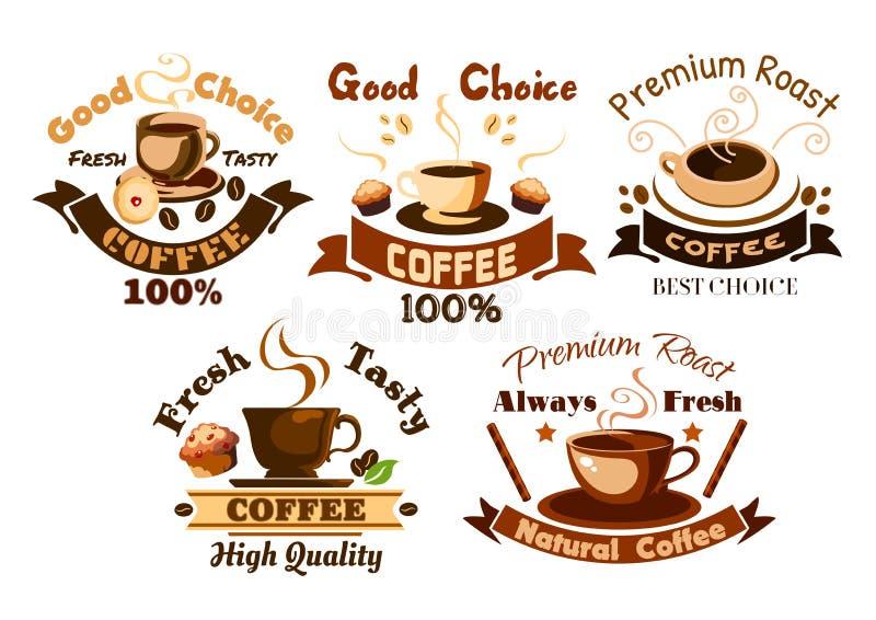 Zu irgendeinem Zweck Caféschildelemente vektor abbildung