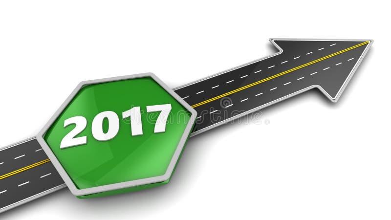 Zu 2017-jährigem lizenzfreie abbildung