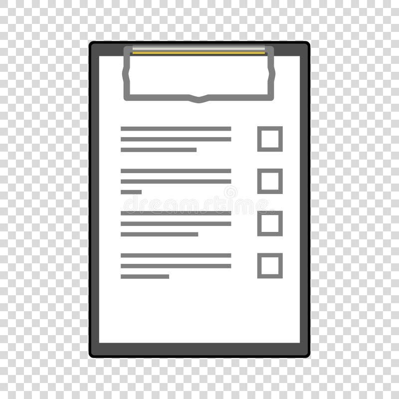 zu Liste mit Bleistift zu tun füllte leeres vektor abbildung