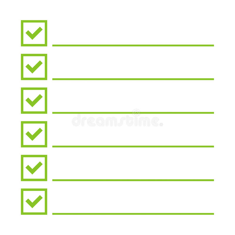 Zu Liste Vektor tun stock abbildung