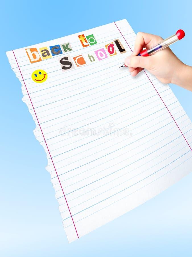 Zu Liste zurück zu Schule tun lizenzfreie stockbilder