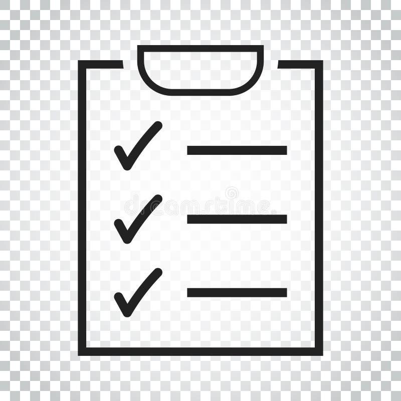 Download Zu Listenikone Tun Checkliste, Aufgabenlisten-Vektorillustration Im Fla Vektor Abbildung - Illustration von checkliste, markierung: 96935815