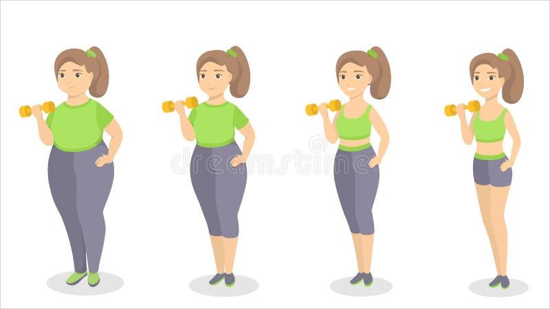 Zu passen vom Fett vektor abbildung