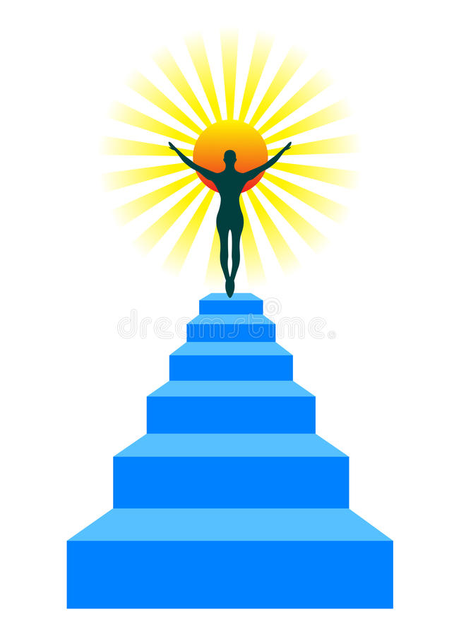 Zu sonnen Treppenhaus sich lizenzfreie abbildung