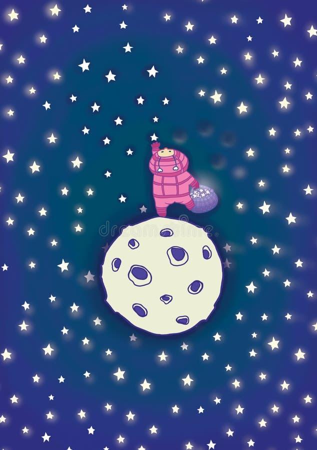 Zu an Sterne gelangen. lizenzfreie abbildung