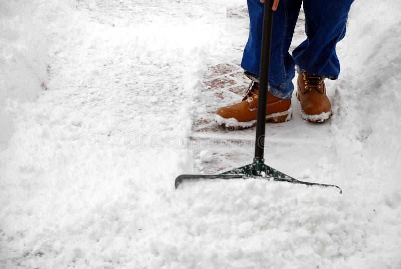 Zu viel Schnee stockbild
