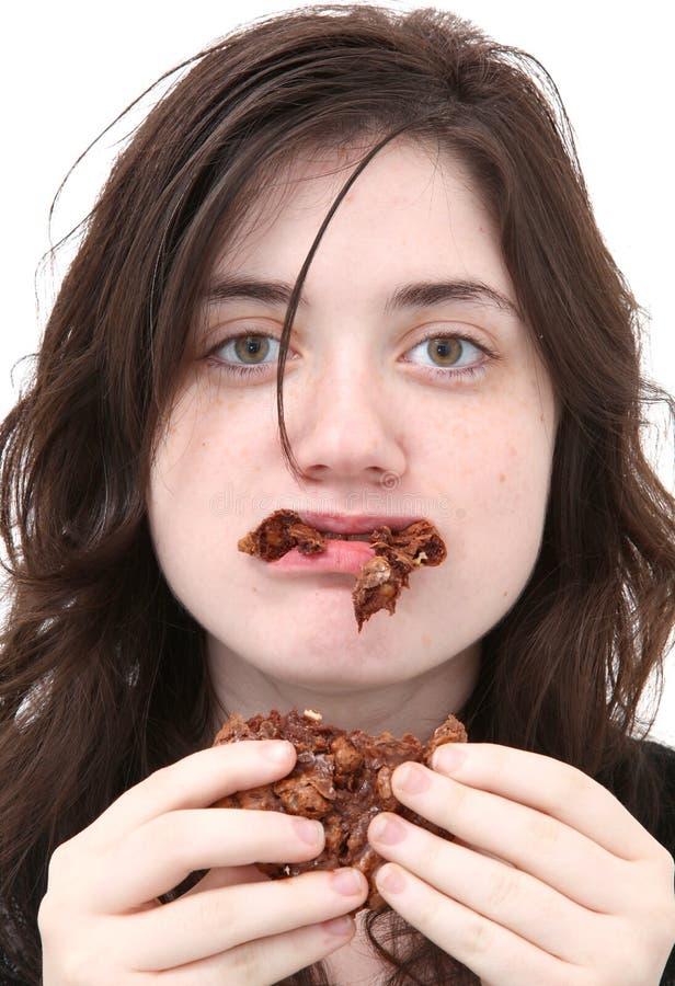 Zu viel Schokolade stockfoto