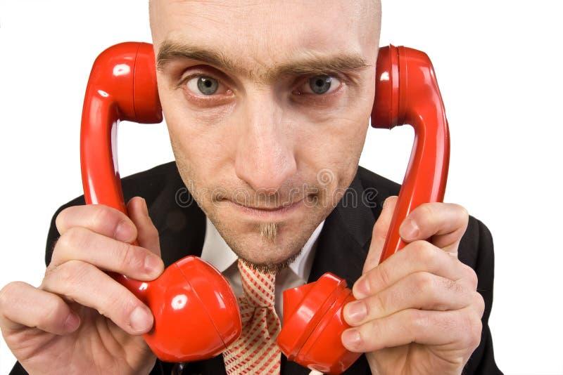 Zu viele Telefon-Aufrufe stockbild