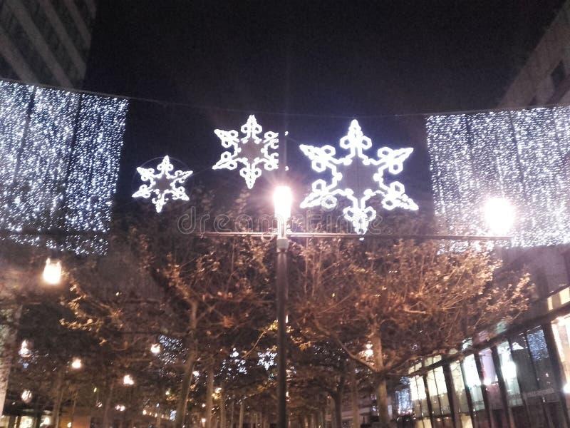 Zu Weihnachten Frankfurts Zeil lizenzfreie stockfotos