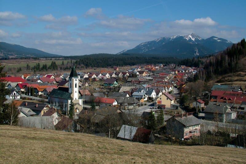 Zuberec, Zapadne Tatry, Slowakije stock afbeelding