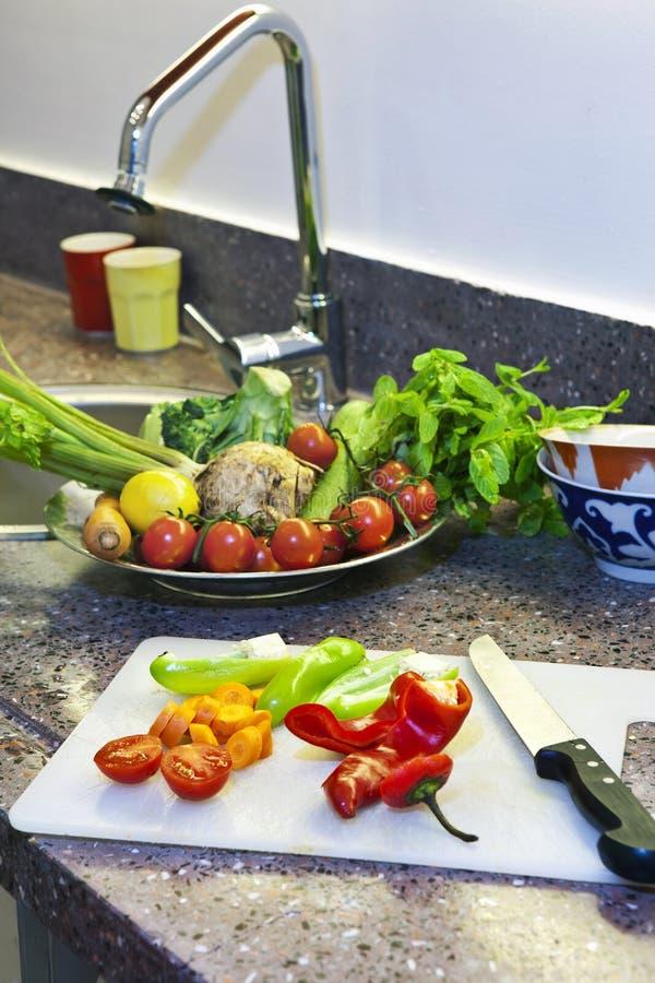 Zubereitung der Nahrung stockfoto