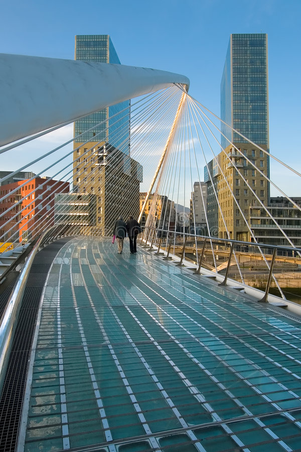 zubizuri моста bilbao стоковые фото
