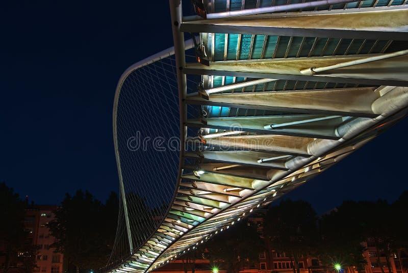 Zubizuri Brücke, Euskadi, Spanien stockbild