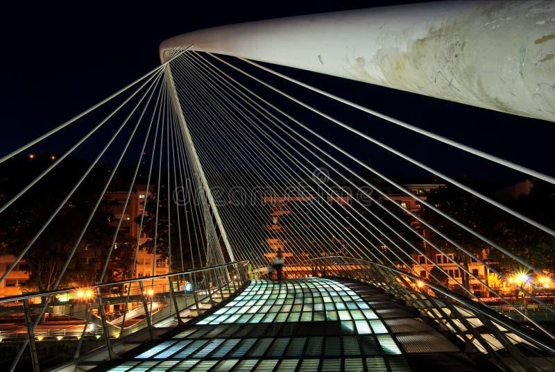 Zubizuri Brücke, Euskadi, Spanien lizenzfreie stockfotografie