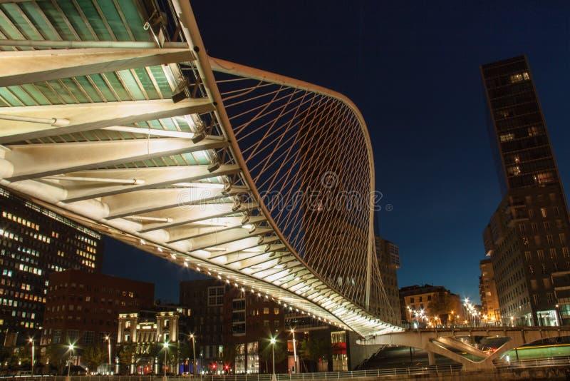 Zubizuri bro Bilbao royaltyfria bilder