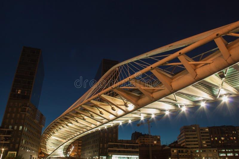 Zubizuri bro Bilbao royaltyfria foton