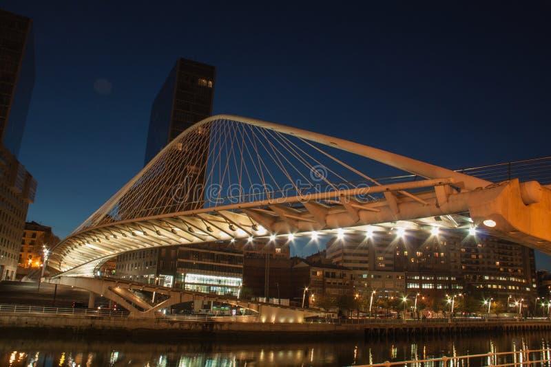 Zubizuri bro Bilbao royaltyfri fotografi