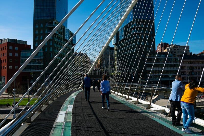 Zubizuri most Puente Del Campo Volantin fotografia royalty free