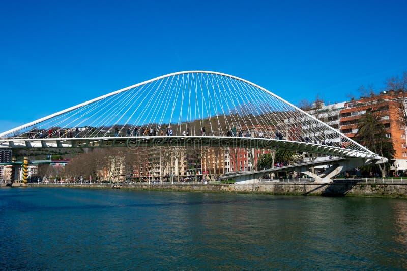 Zubizuri most Puente Del Campo Volantin zdjęcie royalty free