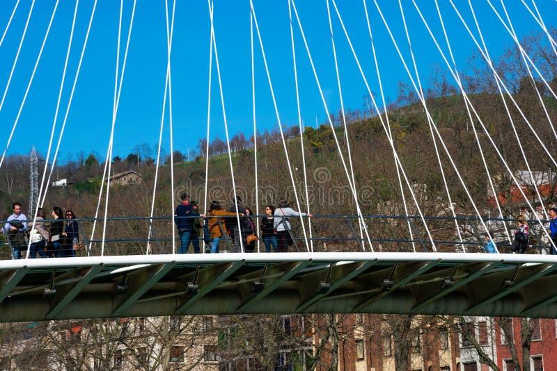 Zubizuri most Puente Del Campo Volantin obrazy royalty free