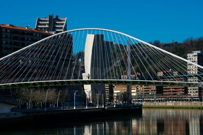 Zubizuri Ponte Puente del Campo Volantin imagem de stock royalty free
