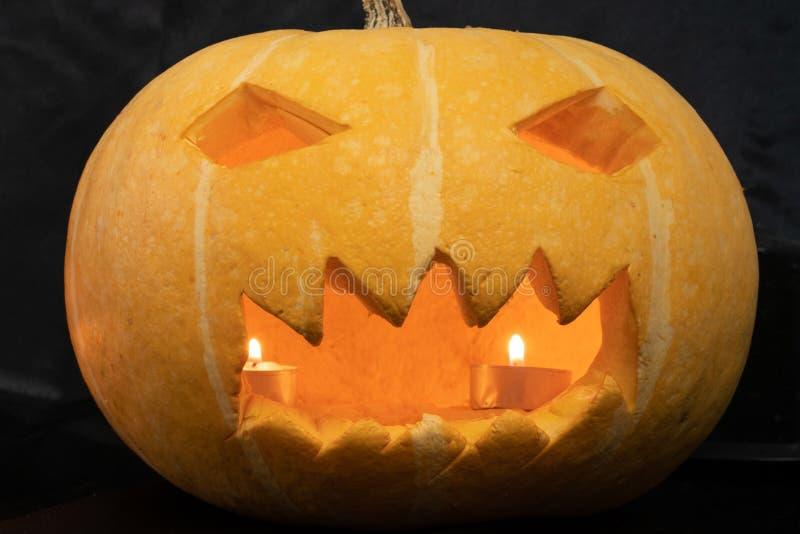 Zucca d'ardore per Halloween immagine stock