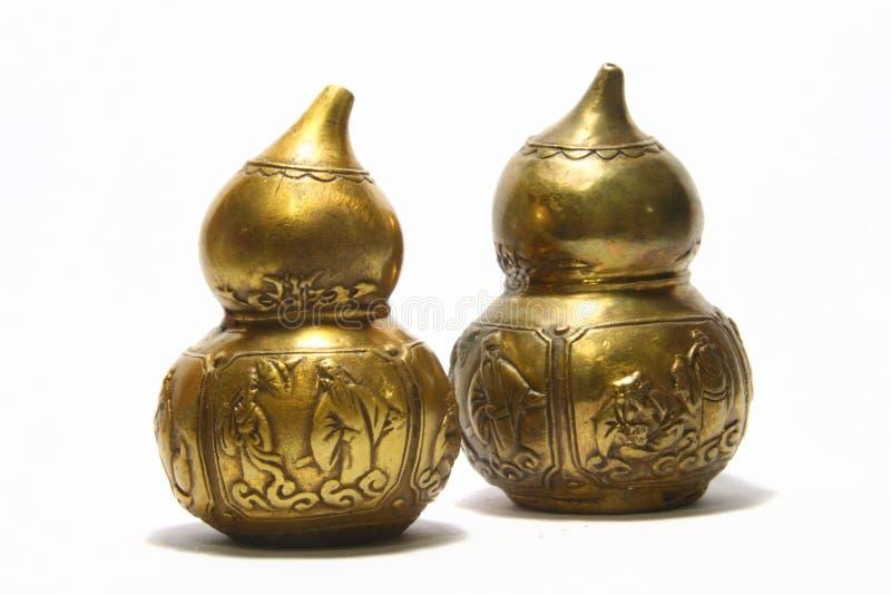 Zucca del Wu Lou un simbolo asiatico di salute e di ricchezza fotografie stock