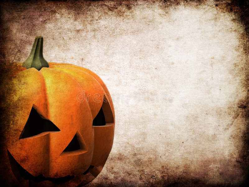 Zucca di Grunge Halloween illustrazione di stock