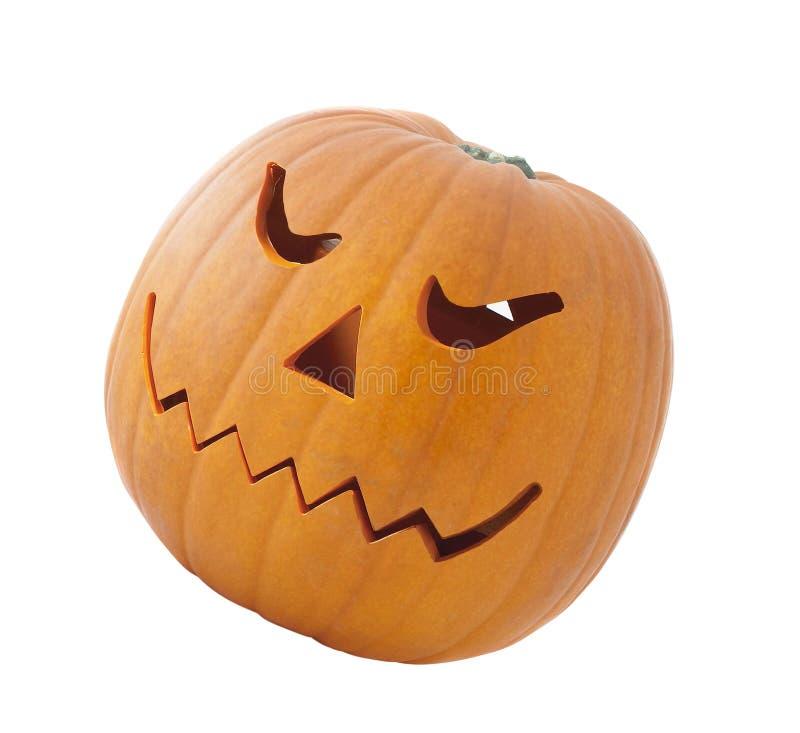 Zucca di Halloween isolata fotografia stock libera da diritti