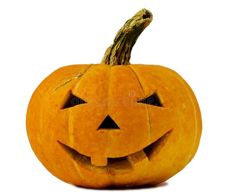 Zucca di Halloween isolata su bianco fotografie stock libere da diritti