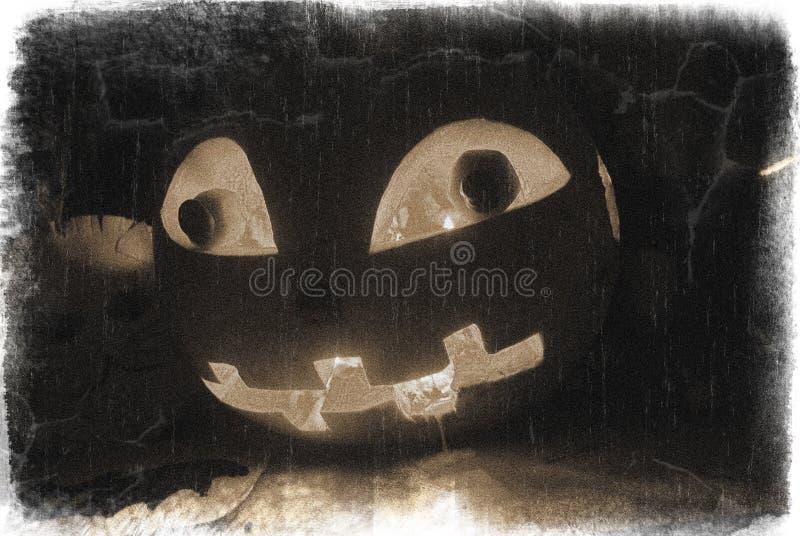 Zucca di Halloween nello scuro fotografie stock libere da diritti