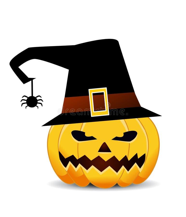 Zucca di Halloween su bianco royalty illustrazione gratis