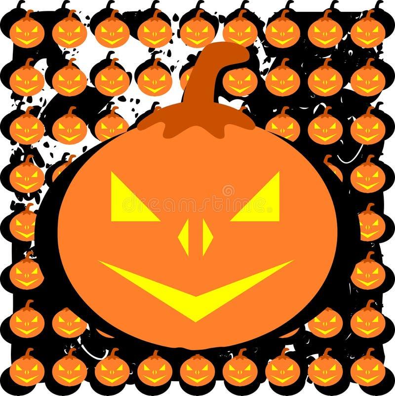 Zucca di Halloween su struttura variopinta illustrazione vettoriale
