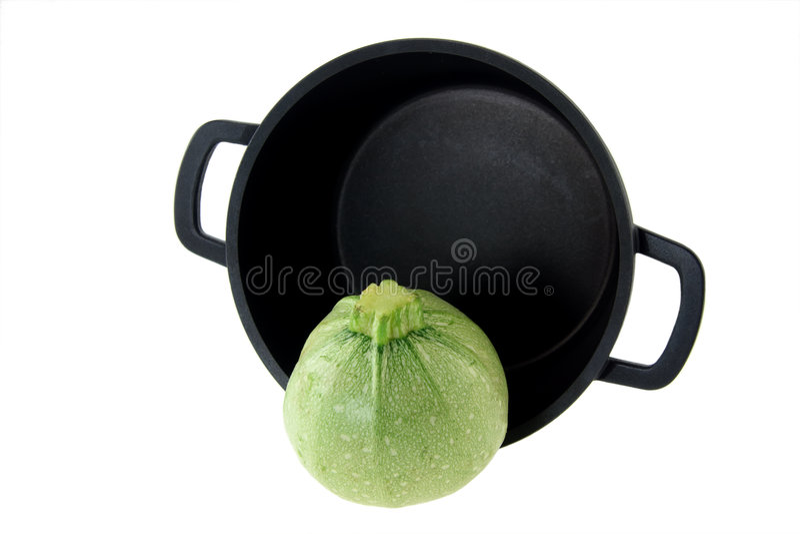 Zucca e vaschetta antiaderante fotografie stock