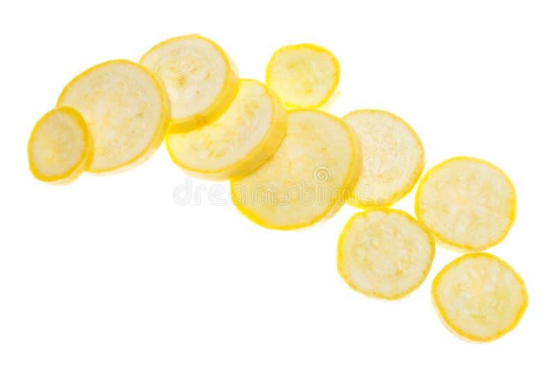 Zucca gialla del taglio fresco immagini stock libere da diritti