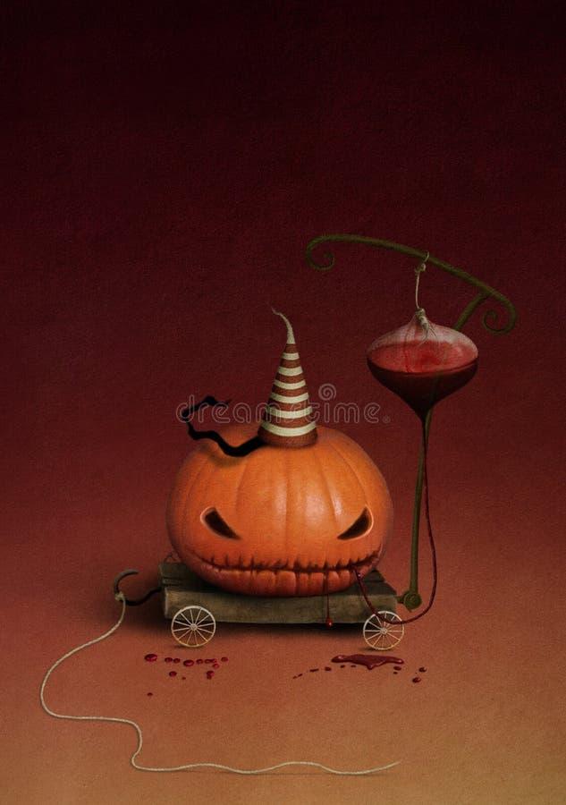Zucca Halloween illustrazione di stock