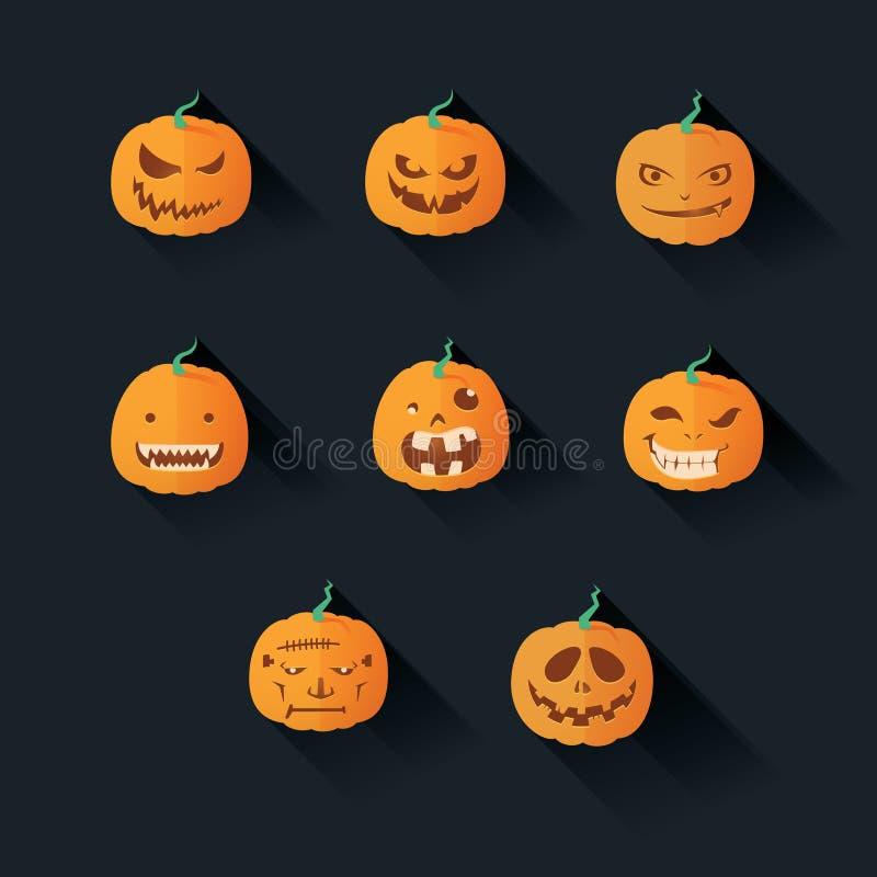 Zucca piana di Halloween illustrazione vettoriale