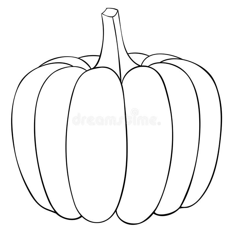 Zucca Scarabocchio del profilo royalty illustrazione gratis