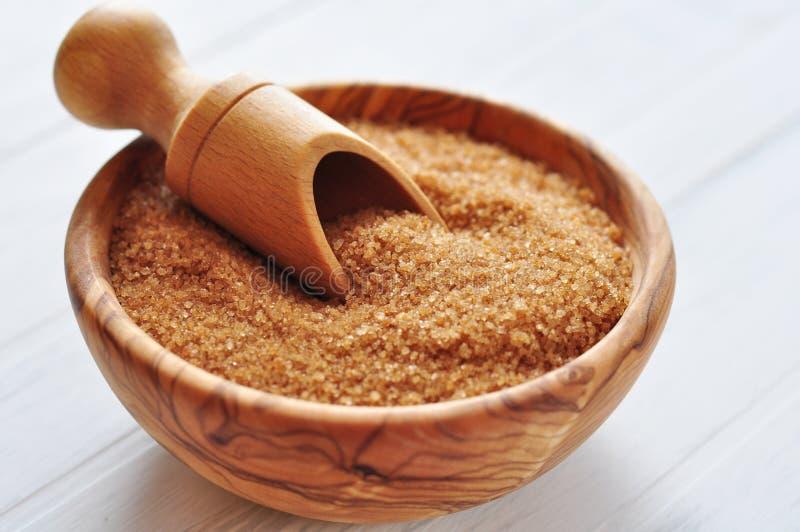 Zucchero bruno fotografia stock