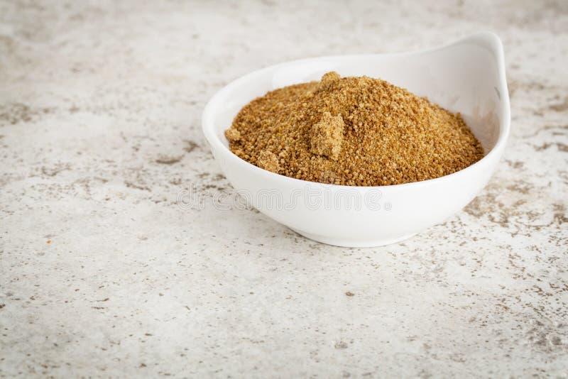 Zucchero del cocco fotografia stock