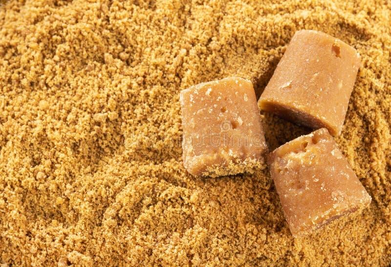 Zucchero di canna non raffinato crudo grattato - saccharum officinarum fotografia stock libera da diritti
