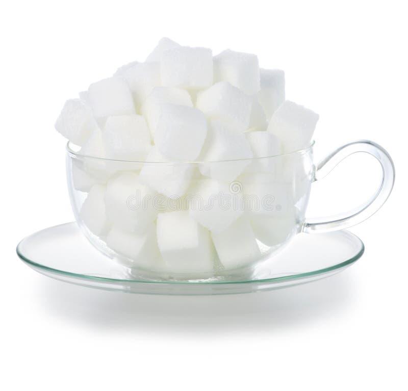 Zucchero di cubo fotografia stock libera da diritti