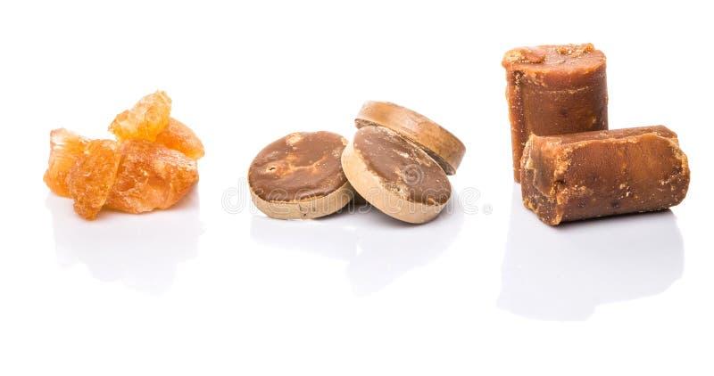 Zucchero di palma, zucchero della noce di cocco, Sugar Cane Rock I immagini stock