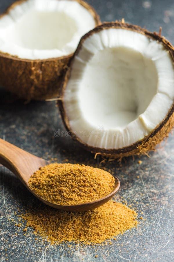 Zucchero dolce della noce di cocco immagini stock